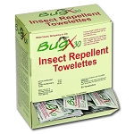 BugX30 Insect Repellent Wipes DEET, 50 Per Box