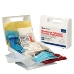 Bloodborne Pathogen (BBP) Spill Clean Up Kit & Personal Protection with CPR Pack, Plastic Case