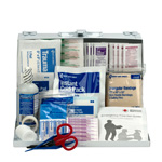 25 Person First Aid Kit, Metal Case