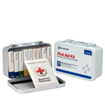10 Unit First Aid Kit, Metal Case