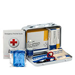 10 Person Vehicle First Aid Kit, Weatherproof Steel Case