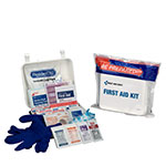 Travel First Aid Kit, Weatherproof Plastic Case, 64 pieces