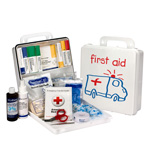 Pediatric 25 Person First Aid Kit, Plastic Case