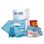 Bloodborne Pathogen Spill Clean Up Kit with Size Extra Large Apparel Pack