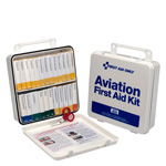 25 Person Airplane First Aid Kit, High Impact Plastic Case