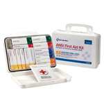25 Person 16 Unit  First Aid Kit, Plastic, Weatherproof, ANSI A,Type III