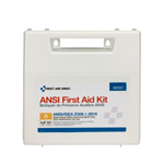 50 Person Bulk First Aid Plastic Kit with Dividers, ANSI A, Type I & II