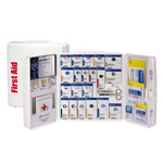 50 Person Large Plastic SmartCompliance First Aid Cabinet, ANSI A+ Type I & II with Medication