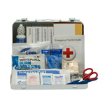 25 Person Vehicle ANSI A+ First Aid Kit, Metal Weatherproof Case