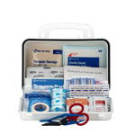 10 Person OSHA Contractor First Aid Kit, Plastic Case