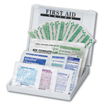 Personal First Aid Kit, 34 Piece, Plastic Case