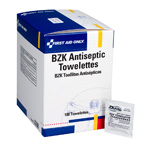 BZK Antiseptic Wipes, 100 per Box