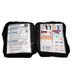 Deluxe Survival First Aid Kit in Ballistic Nylon Black Carry Case, 223 pieces
