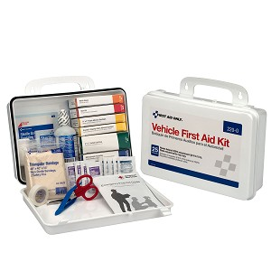 25 Person Vehicle First Aid Kit, Plastic Case