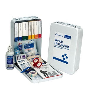 25 Person Vehicle First Aid Kit, Metal Case