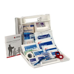 10 Person First Aid Kit, Plastic Case with Dividers