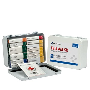 25 Person 16 Unit First Aid Kit, Metal Case