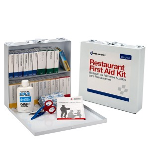 75 Person Restaurant First Aid Kit, Metal Case