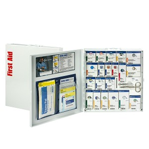 50 Person Large Metal SmartCompliance First Aid Cabinet with Medication