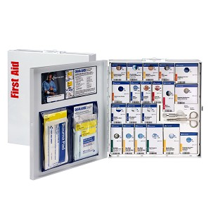 50 Person Large Metal SmartCompliance Food Service First Aid Cabinet, ANSI A+ Compliant, Type I & II  without Medication