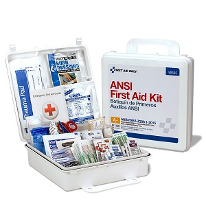 50 Person Bulk Plastic First Aid Kit, ANSI A+, Type III