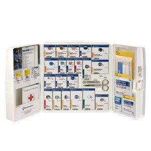 50 Person Large Plastic SmartCompliance First Aid Cabinet, ANSI A+, Type I & II, without Medication