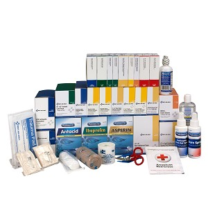 4 Shelf Class B+, First Aid Kit Refill, with Medications