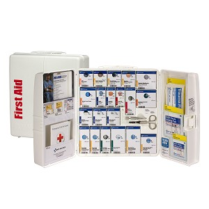 50 Person Large Plastic SmartCompliance First Aid Food Service Cabinet, ANSI A+, Type I & II, without Medication