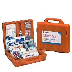 50 Person Weatherproof ANSI A+ Compliant First Aid Kit, Plastic Weatherproof Case