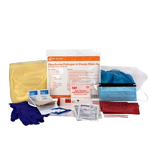 BBP Spill and Sharps Clean Up Kit, Single Use Bag