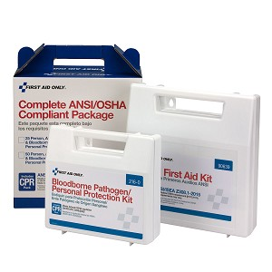 50 Person Complete ANSI/OSHA Compliance Package for First Aid and BBP, Blood borne Pathogens