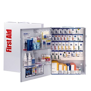 150 Person XL Metal SmartCompliance General Business First Aid Cabinet without Medications