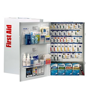 200 Person XXL Metal SmartCompliance General Business First Aid Cabinet with Medications