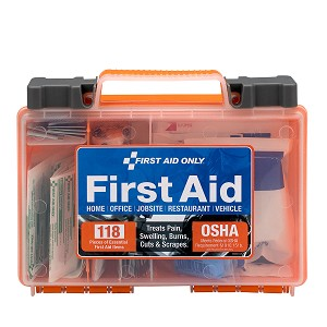 Clear Front Cover 118-piece First Aid Kit