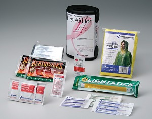 "Emergency Preparedness Breast Cancer Awareness ""First Aid For Life"" Kit"