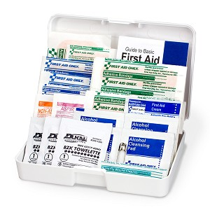 Personal First Aid Kit, 47 Piece, Plastic Case