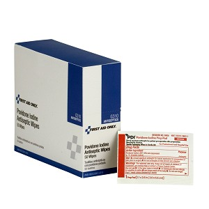 PVP Iodine Wipes, 50 per Box