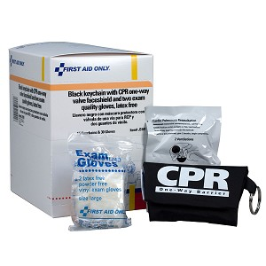 CPR Mask with Gloves Keychain, 15 Per Box