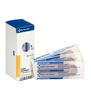 "SmartCompliance Refill 1"" x 3"" Fabric Bandages, 25 Per Box"