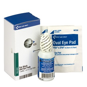 SmartCompliance Eye Care Refill Kit, 1 oz. Bottle, 2 Eye pads Per Box