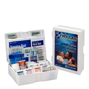 First Aid Kit, 80 Piece, Plastic Case