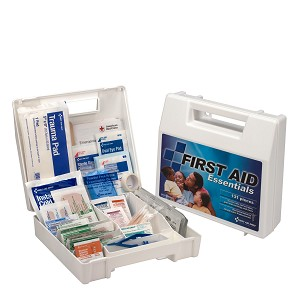 First Aid Kit, 130 Piece, Plastic Case