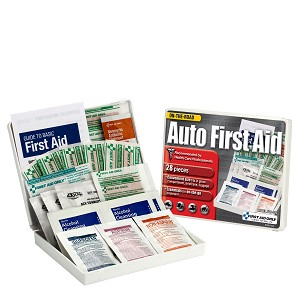 Vehicle First Aid Kit, 28 Piece, Plastic Case